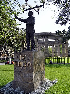José Clemente Orozco - José Clemente Orozco in the Rotunda of Illustrious, Guadalajara, Jalisco