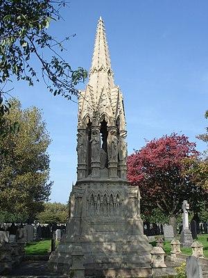 Weaste Cemetery - Image: Joseph Brotherton grave