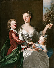The artist's wife Susanna, son Anthony and daughter Susanna