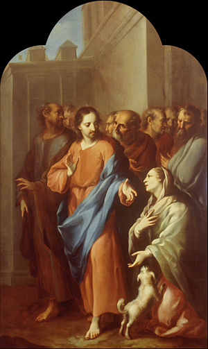 Jesus with the Sick Woman