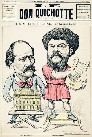 Le mage - Massenet and Richepin, the authors, on a magazine cover on 31 March 1891