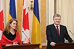 Julie Payette with Petro Poroshenko in Ukraine - 2018 - (1516277010c).jpg