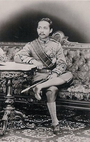 Wichaichan - Photograph of Wichaichan's cousin King Chulalongkorn or Rama V (in Western style uniform)