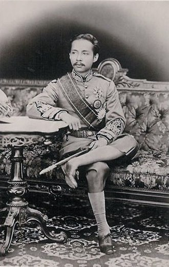 Chulalongkorn - The young king in western dress.