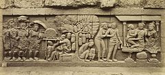 KITLV 40090 - Kassian Céphas - Relief of the hidden base of Borobudur - 1890-1891.jpg