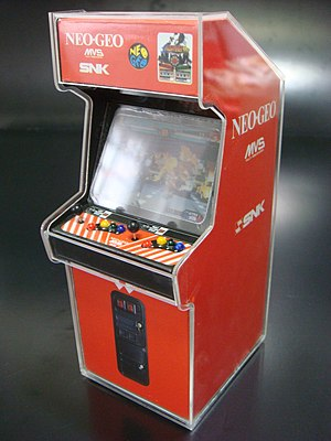 The King of Fighters '98 - Example of an arcade cabinet of the game.