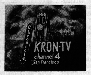 KRON-TV - KRON's original logo, from 1949, depicted what would become its 50-year association with the San Francisco Chronicle.