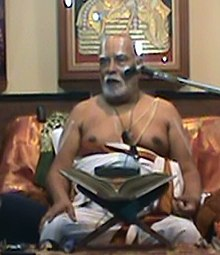 Narayanacharya during the discourse on Srimad Sundara Kandam held at Bangalore in April 2011