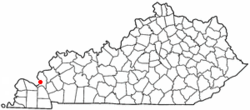 Location of Smithland, Kentucky