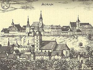 Kaptol s katedralom 1686