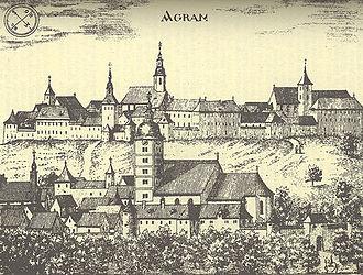 Zagreb - Kaptol 1686.