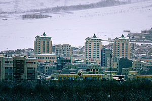 A view of Karaj in winter (6 January 2008)