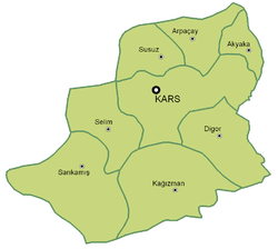 Kars Province Subdivisions