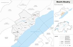 Vị trí của Huyện Boudry