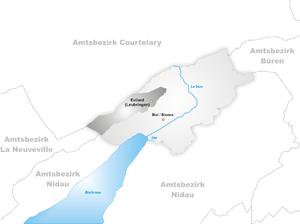 Evilard - Image: Karte Gemeinde Evilard