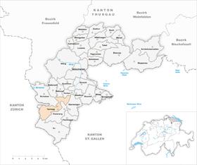 Karte Gemeinde Tannegg 1971