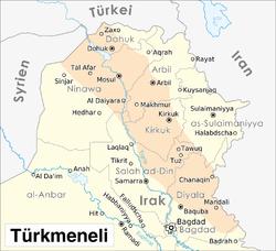 Syrien Irak Karte.Turkmenen Irak Wikipedia