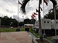 Katipunan Rev monument flags and mobile COVID19 test 20200820.jpg