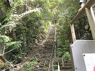 Great Dividing Range - A number of scenic railways, such as this one at Katoomba, climb various shorter routes along the range