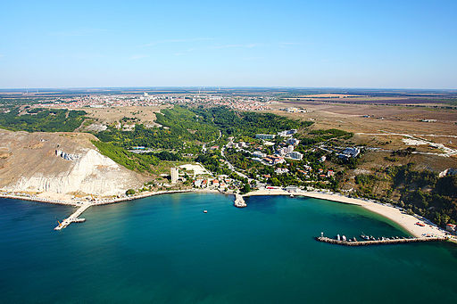 Kavarna Bulgaria aerial photo from the Black Sea