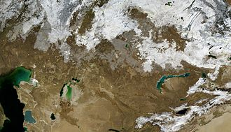 Satellite image of Kazakhstan (November 2004) Kazakhstan BMNG.jpg