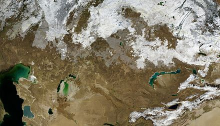 Satellite image of Kazakhstan in November 2004. Kazakhstan BMNG.jpg