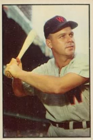 Ken Wood (baseball) - Image: Ken Wood 1953bowman
