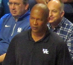 Kenny Payne - Payne coaching in Kentucky's 2014 Blue-White scrimmage