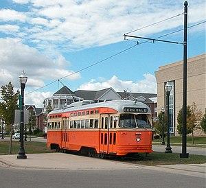 Streetcars in Kenosha, Wisconsin - Car 4615 in a Johnstown tribute paint scheme in 2005