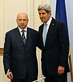Kerry at Verkhovna Rada with acting President Oleksandr Turchynov March 2014 (cropped).jpg