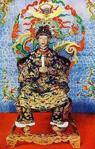 Shaku (ritual baton) - Image: Khải Định 1919