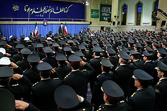 Law Enforcement Force of the Islamic Republic of Iran - Commanders, officers and officials of the Law Enforcement Force of Islamic Republic of Iran met Ayatollah Khamenei, commander and chief of the armed forces, on 8 May 2016.