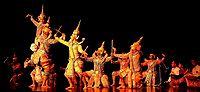 Thai Khon Dance, performance at Frankfurt/Main...