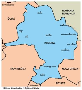 mapa srbije kikinda Kikinda (općina) – Wikipedija mapa srbije kikinda