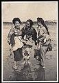 Kimono women on the Shore of Japan - Sharing a Laugh (1915 by Elstner Hilton).jpg