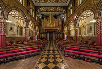 King's College London Chapel - The view facing the organ from the apse