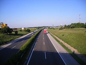 M1 motorway (Hungary) - Image: Kisigmánd 02