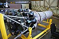 Klimov VK-1 jet engine from MiG-15bis (c-n 1B01524) front 3-4 view port side.jpg