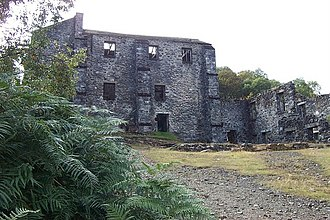 River Geirionydd - The ruins of Klondyke Mill today