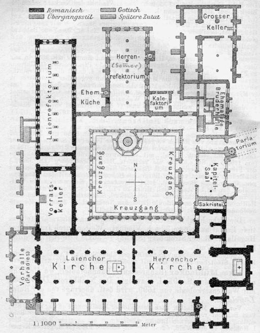 Kloster Maulbronn Grundriss-Plan