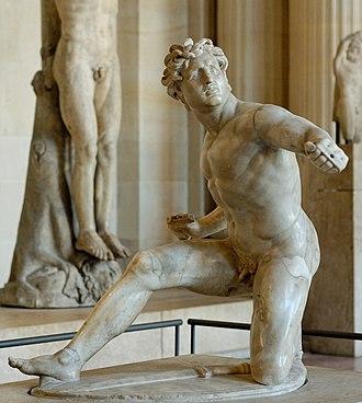 Ludovisi Gaul - Image: Kneeling youthful Gaul Louvre Ma 324 n 2