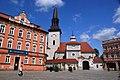 Kościół p. w. św. Marcina i dom nr Rynek 24 w Jarocinie..jpg