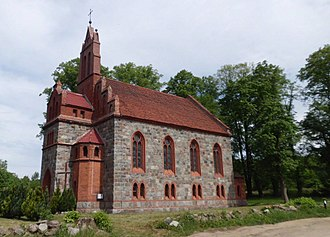 Kurowo, West Pomeranian Voivodeship - Neo-Gothic church