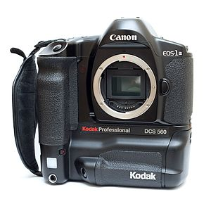 Kodak DCS - A Kodak DCS 560, a six megapixel digital SLR based on a Canon EOS-1N
