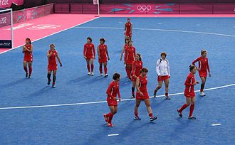 South Korea women's national field hockey team - Korea women's national field hockey team at Riverbank Arena – London 2012 Summer Olympics