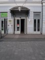 Korona Hotel entrance, Dózsa Street, 2017 Nyíregyháza.jpg