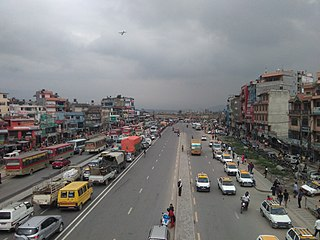 Koteshwor neighbourhood in Kathmandu, Province No. 3, Nepal
