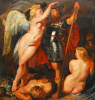 Machismo - The Crowning of the Virtuous Hero by Peter Paul Rubens