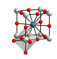 Struktur von Bariumtitanat