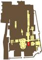 Krypta Batorego na Wawelu na planie podziemi Katedry Wawelskiej.png